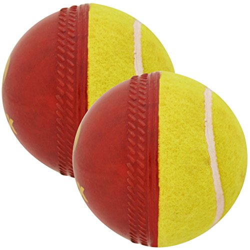 omtex cricket ball - Swing Ball (Half Tennis) Cricket training Ball (PACK OF 2) Size 5.5. Diameter 2.5 cms