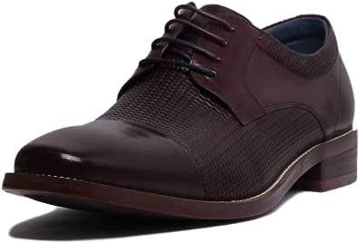 Justin Reece England Paul, scarpe stringate da uomo in pelle goffrata
