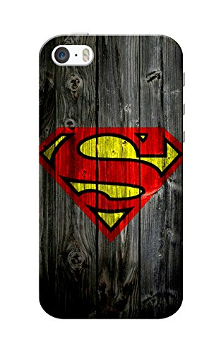 iPhone 5 Case, iPhone 5S Case, Superman Wood Slim Fit Hard Case Cover/Back Cover for Apple iPhone 5/5S  available at amazon for Rs.99
