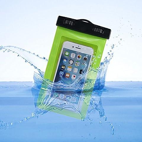 Bolsa Impermeable,Asnlove Carcasa Transparente con Tapa y Sistema de Sellado Hermético,Universal Funda Bolsa Impermeable para Telefonos Moviles,Waterproof Case Funda Brazalete Impermeable de Cinturón Base de Sport,Resistente al Agua para Nadar,Pescar,Esquia para iPhone 5, iPhone 5C, iPhone 5S, iPhone SE, Asus Zenfone 4, BlackBerry Q10, Q5,Samsung galaxy s3 s4 s5,Nexus 6, Sony Z3