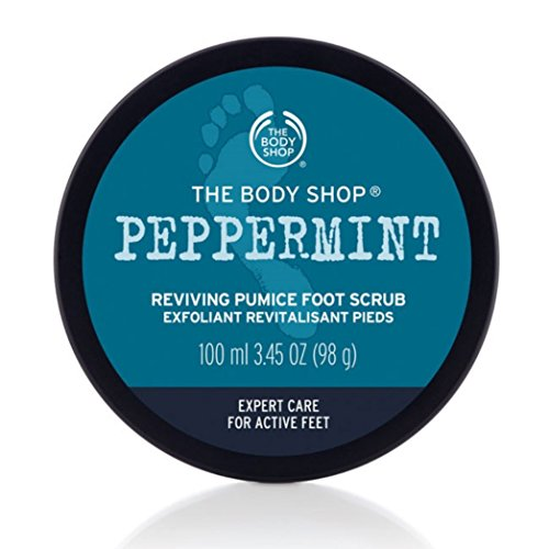 The Body Shop Peppermint Smothie Thing pumice Foot Scrub/Menta bimsstein...