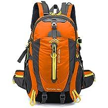 Lixada 40L Resistente al Agua Mochila, Portátil Mochila Trekking, Laptop Daypack, Durable Impermeable