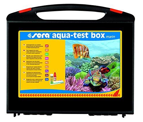 sera 04004 aqua-test box marin (+Ca) - Wasser testen für Fortgeschrittene pH, KH, NH3/NH4, NO2, NO3, PO4, Cu und Ca - schnell, genau, professionell