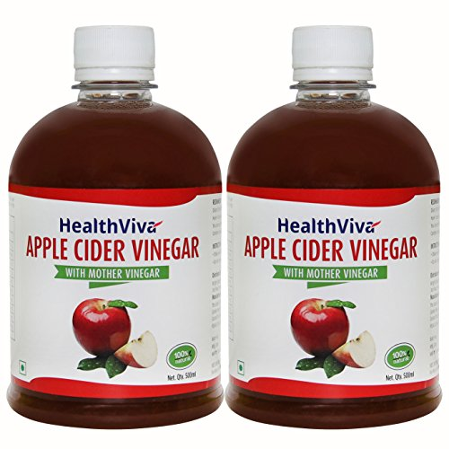 HealthViva Apple Cider Vinegar Combo with Mother- Natural, Raw, Unfiltered, Unflavored- 500 mL (Pack...