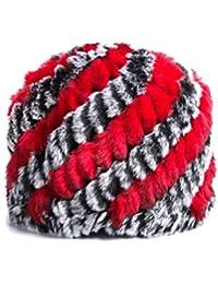 LJY hat Sombrero de Mediana Edad Calor Femenino Gorro de Lana de Invierno Grueso Tejido de señora Mayor (Color : B)