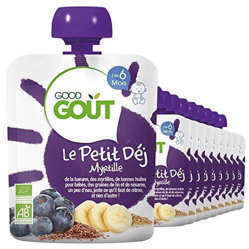 Good Goût Le Petit Déj Myrtille Bio Dès 6 Mois 700 g – Pack de 10 e88978614af