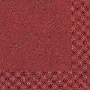 60 Serviettes en papier Bordeaux 40 x 40 cm 3 plis, Dinner Serviettes, Serviettes Modern Colours Tissue