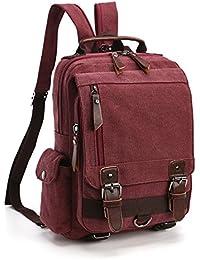 LOSMILE Zaino Uomo donne Zaini Tela Zainetto Borsa a Tracolla Borsa di Tela Sacchetto del Messaggero Sacchetto di Messenger bag Backpack.