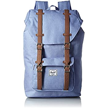 Herschel Supply Company SS16 Casual Daypack, 17 Liters, Chambray Crosshatch/ Tan