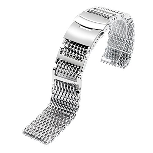 24mm H-link Shark 316L in acciaio INOX orologio da polso, orologio da...