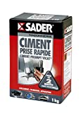 Sader Ciment Prompt Vicat, Prise Rapide 1KG (boîte carton)