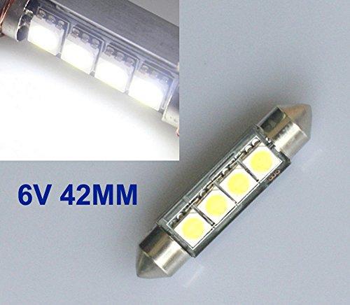 2x 24V LED 12 SMD Soffitte 42mm Weiß Xenon 6000K DC 24V Volt C10W Oldtimer Moped