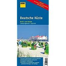 ADAC CampingKarte Deutsche Küste: Nord- und Ostsee (Camping und Caravaning)