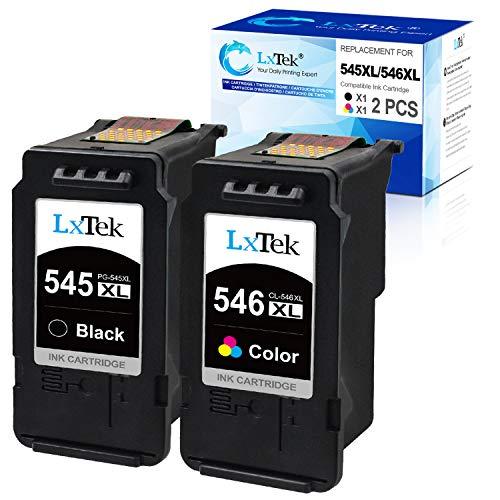 LxTek PG-545XL CL-546XL Ersatz für Canon 545 546 XL Druckerpatronen für Canon Pixma MX495 MG2950 iP2850 MG3050 MG3051 MG2450 MG2550 MG2550S MG2555S MG2950S MX490 TS3150 MG2500 (1 Schwarz, 1 Farbe)