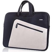 Funda para portátiles, Canbor Maletín para ordenador portátil 14 15 16 pulgadas bolsa de ordenador funda protectora de mano para Apple MacBook Air / Pro / iPad Pro / Chromebook / Ultrabook, Negro