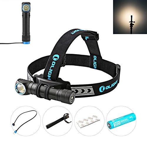 Olight S1 Baton Lampe Torche LED Cree XM-L2 CW 3 Modes + Strobe Lampe de Poche 500lms Faisceau 110m avec Batterie Lithium 1x CR123A Fonction Minuteur 600 Heures Autonomie Etanche