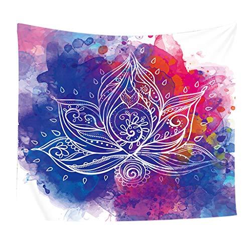 pisserie Wandbehang Wandteppiche Queen Hippie Tapestries Mandala Bohemian Psychedelic Intricate Indian Lila Bedspread Beach Sheet 130X150CM (A) ()