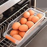 ADAALEN Kunststoff Kühlschrank Lagerung Schubbox Hohl Lebensmittel Obst Gemüse Getränke Küche Organizer