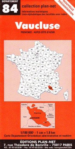 Carte routière : Vaucluse
