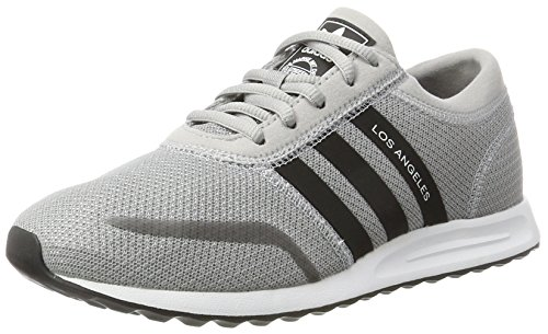 Adidas Unisex-Kinder Los Angeles J Laufschuhe, Mehrfarbig (Mid Grey S14/Core Black/Ftwr White), 39 1/3 EU (Angeles Black Los White And)