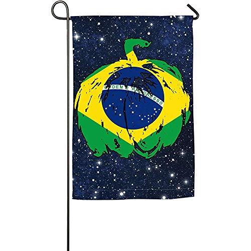 EW-OL Brasilien-Kürbis-Halloween-Flaggen-Garten-Flagge Lustige Festival-Flaggen-Frühlings-Sommer-Garten-Flagge -