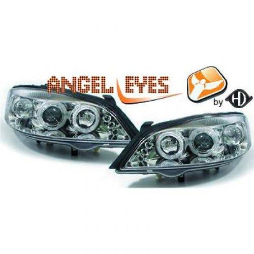 Opel Astra G 98-04 fari anteriori ANGEL EYES cromati LED