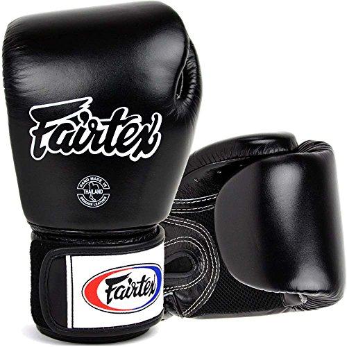 Fairtex Boxhandschuhe, BGV-1 AIR, schwarz, Boxing Gloves MMA Muay Thai Thaiboxen Size 16 Oz Fairtex Boxhandschuhe Schwarz