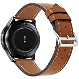 BarRan Samsung Galaxy Watch 42mm Correa, 20MM Correa Reloj de Piel para Samsung Gear Sport, Pebble Time, TICHWATCH 2,Suunto 3 Fitness