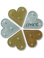DAKINE Stomp Pad Hearts Mat - Pad para snowboards, color multicolor, talla One Size