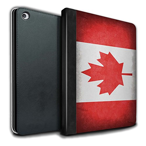 Stuff4® PU-Leder Hülle/Case/Brieftasche für Apple iPad Air 2 Tablet/Kanada/Kanadische Muster/Flagge Kollektion (Ipad Air 2 Kanada)