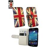 Emartbuy® Samsung Galaxy S4 Mini I9190 Luxus PU Leder Case Cover Tasche Hülle Schutzhülle Union Jack Mit Kreditkartensteckplätze