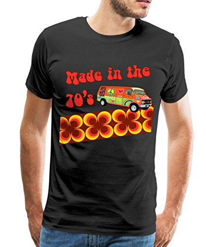 Hippie Jahren 1970er (Made in the 70's Retro Siebziger Männer Premium T-Shirt von Spreadshirt®, XXL,)