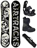 Airtracks Snowboard Set/Board Samsara Wide Flat Rocker 163 + Snowboard Bindung Star + Boots Star Black 44 + Sb Bag