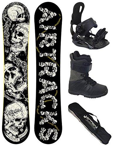 AIRTRACKS Snowboard Set / Board Samsara Wide Flat Rocker 159 + Snowboard Bindung Star + Boots Star Black 42 + Sb Bag