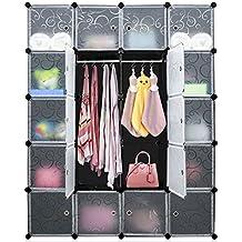 Armario Modular Organizador de Plástico de Almacenaje De Carttiya, Rápido para montar diseño creativo de bricolaje solid PP Eco-Materiales fácil de limpiar 32.99 * 32.99cm (cada cubo) (20 Cubos)
