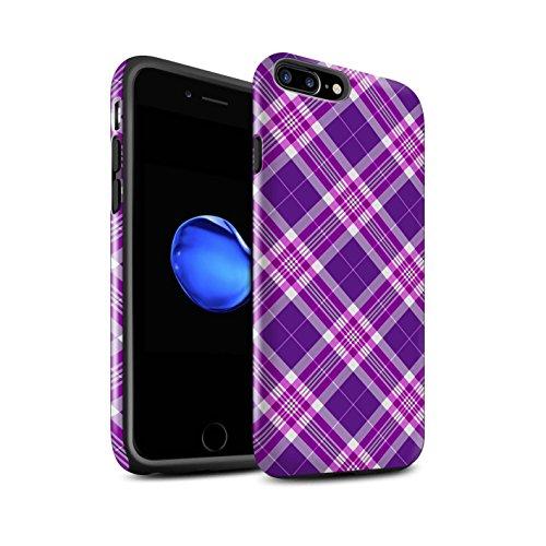 stuff4-lucidare-antiurto-custodia-cover-caso-cassa-del-telefono-per-apple-iphone-7-plus-viola-tartan