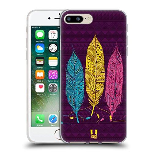 Head Case Designs Loup Animaux Aztèques 3 Étui Coque en Gel molle pour Apple iPhone 7 / iPhone 8 Bleu Jaune Et Rose