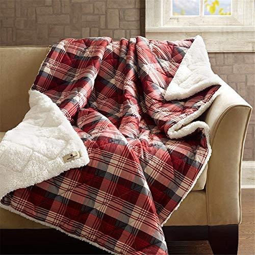 Woolrich Inc. Tasha 145gsm Softspun Down Alternative gefüllt Überwurf Decke, 127x 177,8cm rot Woolrich Throw