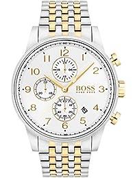 Hugo Boss Men's 44mm Two Tone Steel Bracelet Steel Case Quartz Watch 1513499