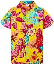 King Kameha Hawaiiaans Overhemd Hawaii-Overhemd Shirt Heren Korte Mouw Voorvak Hawaiian Afdrukken Ananas