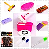 Venus 15 In 1 Spin Magic Bucket Mop,(Total 15 Pcs Set) Combo Home Cleaning Set