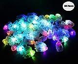 Yuccer LED Palloncini luci per Lanterne di Carta, Mini Balloon Lights per Decorazioni Floreali per Feste Nuziali 100pz (B Bullet)