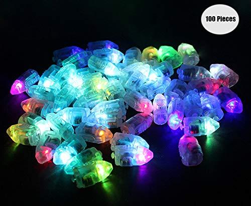 Yuccer LED-Ballons Lichter, Mini LED Licht Bunt Beleuchtung für Papierlaternen Ballons Hochzeit Party Blumen Dekoration Balloon Lights 100 Pack (B Kugel) (Mit Lichtern Ballons Ihnen In)