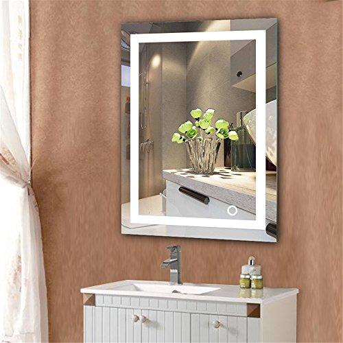 Specchio da Parete da Bagno 600 x 800 mm / 500 x 700 mm, con Touch Control, Bianco Freddo IP 67 (500 x 700 mm)