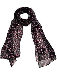 Toutacoo, Leopard Print Silk Scarf, Women's Scarf