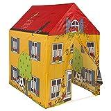 ColorBaby - Tienda de juegos con forma de casa, 95 x 72 x 102 cm, color amarillo (42763)