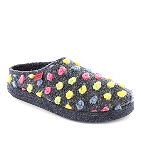 Chaussons Alpino en feutre points Multicolores.35
