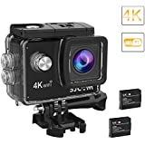 2018-Original SJCAM SJ4000 Air Action Camera 4K WiFi Underwater Cam 16MP Ultra HD Waterproof Sports Camera 170Wide-angle 2 Inch LCD Plus 2 Rechargeable 900mAh Batteries And Mounting Accessories Kit