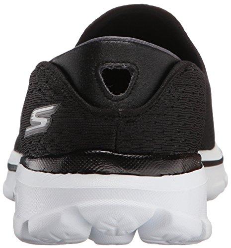 Skechers prestazioni delle donne Go camminata 3 Dominazione Walking Shoe Black/White