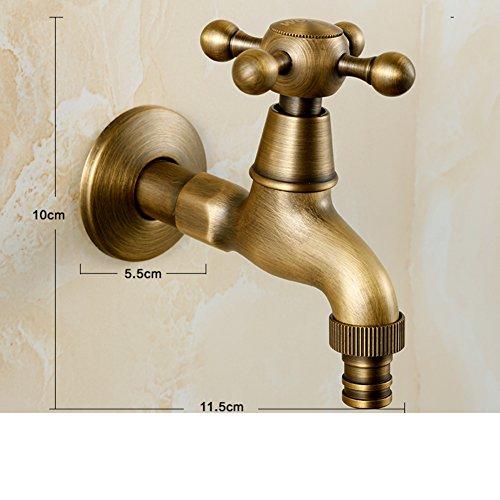 Preisvergleich Produktbild Kupfer Antik Waschmaschine Wasserhahn/Single-kalten europäischen Stil Wand-MOP Waschbecken-B